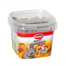 Sanal. Vitamiinid kassidele Cat Anti-Hairball Bites  75 g.